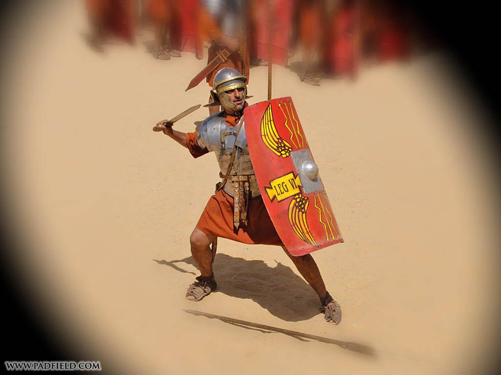 Roman Army Reenactment And Formations At Jerash Jordan